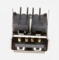 JACK-USB,4P/1C,AU,BLK,SMD-A(DIP),A